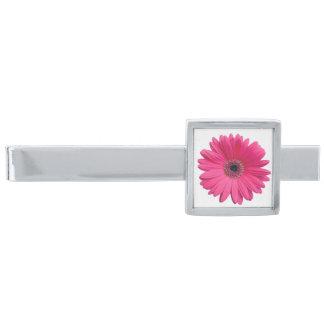 Roze Gerbera Gerber Daisy Flower Wedding Verzilverde Dasspeld
