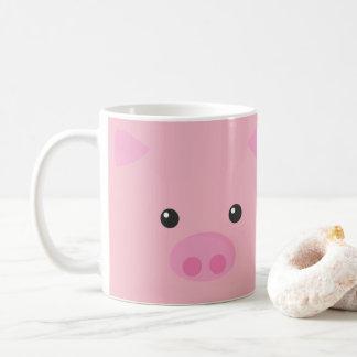 Roze Gezicht Piggy Koffiemok