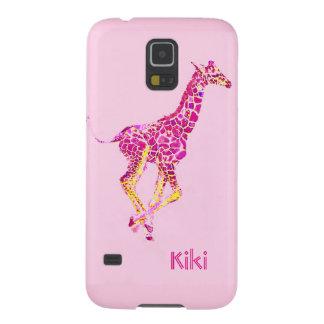 roze giraf galaxy s5 hoesje