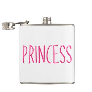Roze gloeiende prinses heupfles