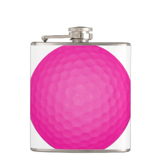 Roze Golfbal Heupfles