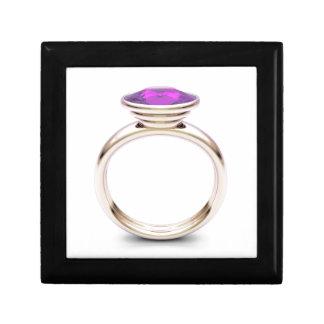 Roze gouden ring decoratiedoosje