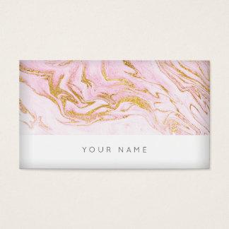 Roze Gouden Wit Marmeren Vip Visitekaartje Visitekaartjes