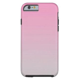 Roze & Grijze Ombre Tough iPhone 6 Hoesje