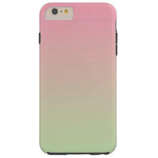 Roze & Groene Ombre Tough iPhone 6 Plus Hoesje