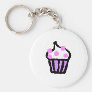 Roze Gumball Cupcake Sleutelhanger