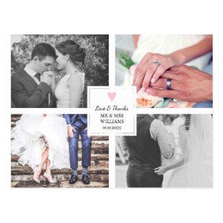 Roze Hart | de Collage van de Foto van het Briefkaart