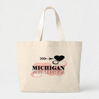 Roze Hart Michigan Grote Draagtas