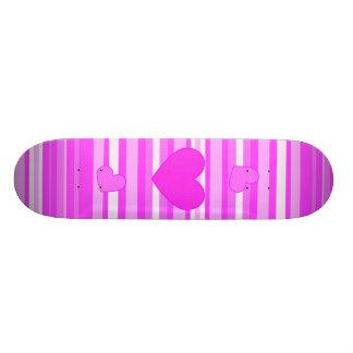 Roze Hart op het Skateboard van Strepen