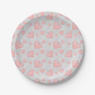 Roze Hart Papieren Bordje
