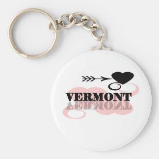 Roze Hart Vermont Sleutelhanger