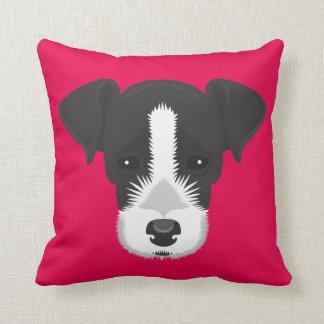 Roze Hefboom Russell Terrier Sierkussen
