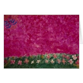 roze hemel leeg wenskaart