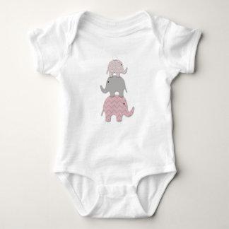 Roze het babybodysuit van de Olifant Romper