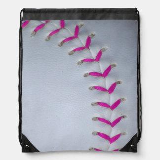 Roze het Stikken Softball Gymtasjes