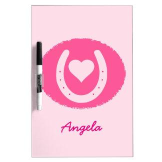 roze Hoef en Hart Whiteboard
