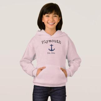 Roze hoodie van Plymouth Massachusetts voor