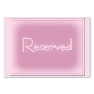 """Roze Horizontale Gereserveerde 3.5"""" x 5"""" Kaart"""