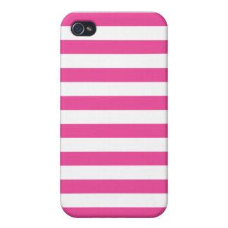 Roze Horizontale Strepen iPhone 4 Hoesjes