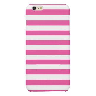 Roze Horizontale Strepen iPhone 6 Plus Hoesje Mat