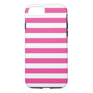 Roze Horizontale Strepen iPhone 7 Hoesje