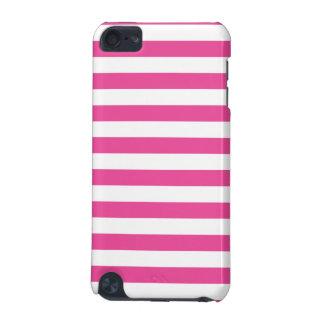 Roze Horizontale Strepen iPod Touch 5G Hoesje