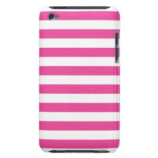 Roze Horizontale Strepen iPod Touch Hoesje