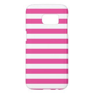 Roze Horizontale Strepen Samsung Galaxy S7 Hoesje