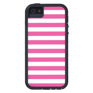 Roze Horizontale Strepen Tough Xtreme iPhone 5 Hoesje
