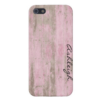 Roze Hout iPhone 5 Covers