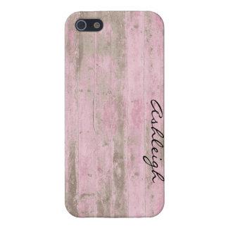 Roze Hout iPhone 5 Hoesje