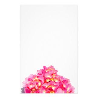 Roze Hydrangea hortensia Briefpapier