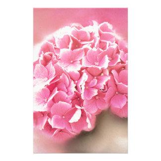 roze hydrangea hortensia in bloei briefpapier