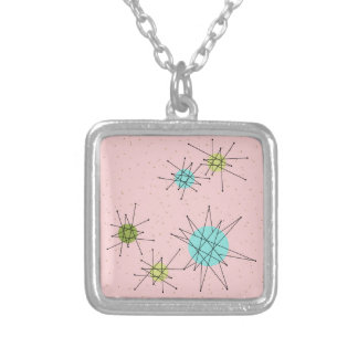 Roze Iconisch AtoomKetting Starbursts Zilver Vergulden Ketting