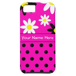 Roze iPhone5/5S Hoesje van de Bloem & van de Stip