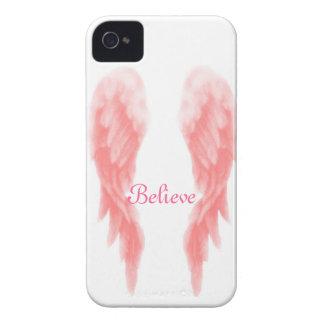 Roze iPhone 4 van de Vleugel van de Engel Hoesje