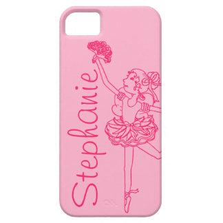 """""""Roze iphone 5 uw van de naam"""" ballerina hoesje"""