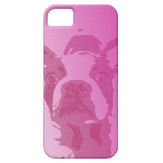 Roze iPhone 5 van Boston Terrier Barely There iPhone 5 Hoesje