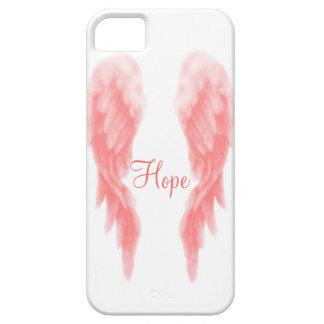 Roze iPhone 5 van de Vleugel van de Engel Hoesje