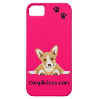 Roze iPhone 5 van het Puppy Corgi Hoesje