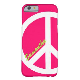 Roze iPhone 6 van het Teken van de Vrede hoesje