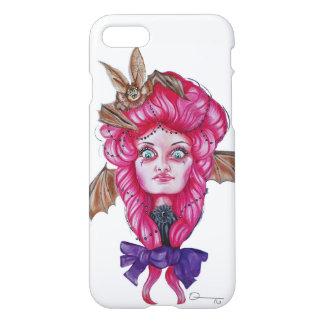 Roze iPhonehoesje van het knuppelMeisje iPhone 8/7 Hoesje