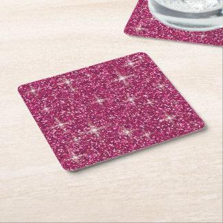 Roze iriserend schittert vierkante onderzetter