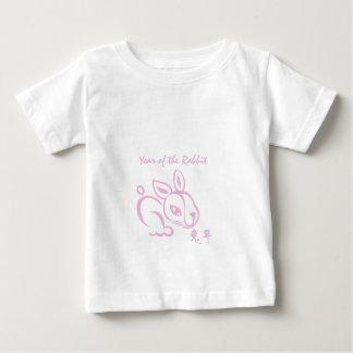 Roze Jaar van het Konijn - Chinees Nieuwjaar Baby T Shirts