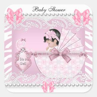 Roze Kant van het Meisje van het Baby van het mooi Sticker