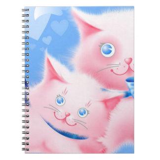 Roze Katten Ringband Notitieboek