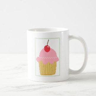roze kers cupcake koffiemok