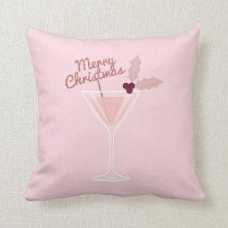 Roze Kerstmis van Martini Sierkussen