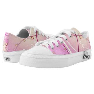 Roze Kickers van Zipz van de Douane van Kwallen Low Top Schoenen