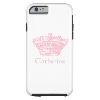 Roze Kroon - personaliseer het Tough iPhone 6 Hoesje